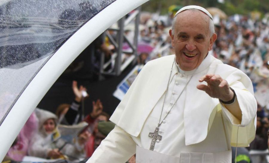 O papa e sua comitiva ficarão no Brasil até 28 de julho pela Jornada Mundial da Juventude