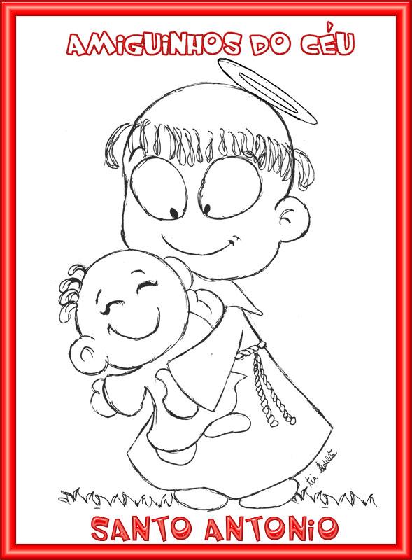 04e0c10f47d Quer colorir mais esse desenho de Santo Antônio que eu desenhei  Clique  nele para ampliar e imprimir…