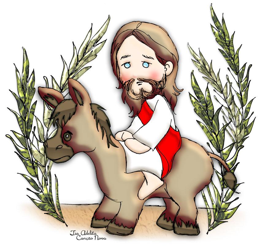 Entrada De Jesus Em Jerusalem Amigos Do Ceu