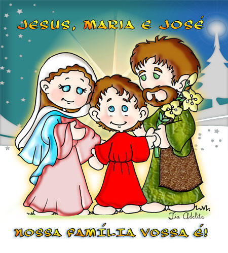postal-sagrada-familia-colorir-_tia-Adelita