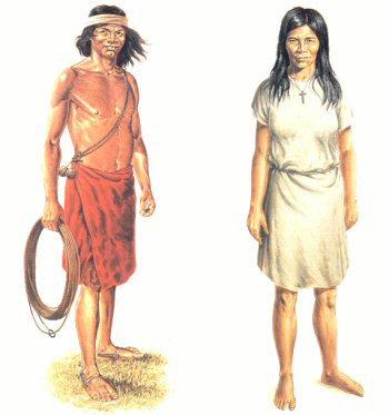 indumentaria indios 1500