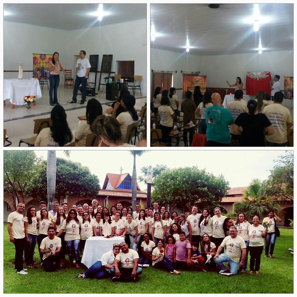 18 e 19 de fevereiro de 2017 Retiro para servos do grupo de oração Rosa Mística