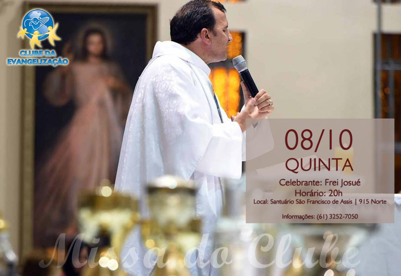 Missa do clube da evangeliza Outubro