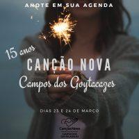15 anos da Canção Nova em Campos dos Goytacazes