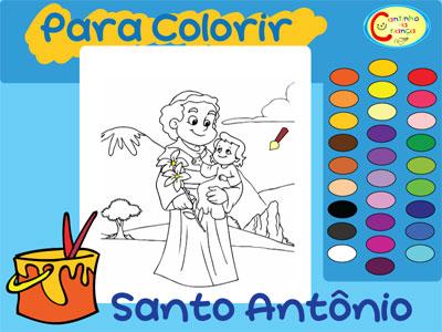 Desenho De Santo Antonio Para Pintar Cantinho Da Crianca