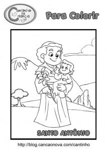 b526c9a44d7 Desenho De Santo Antonio Para Pintar