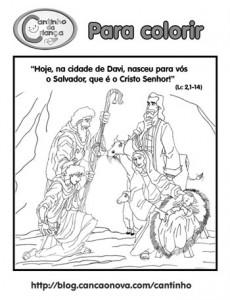 evangelho para colorir nascimento do menino Jesus