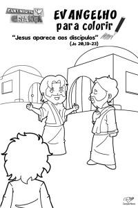 para colorir o evangelho