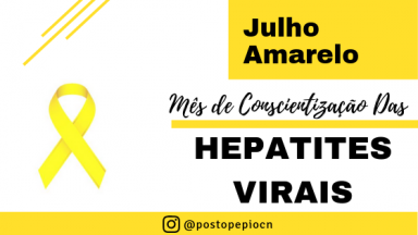 Julho Amarelo: Mês de Conscientização das Hepatites Virais