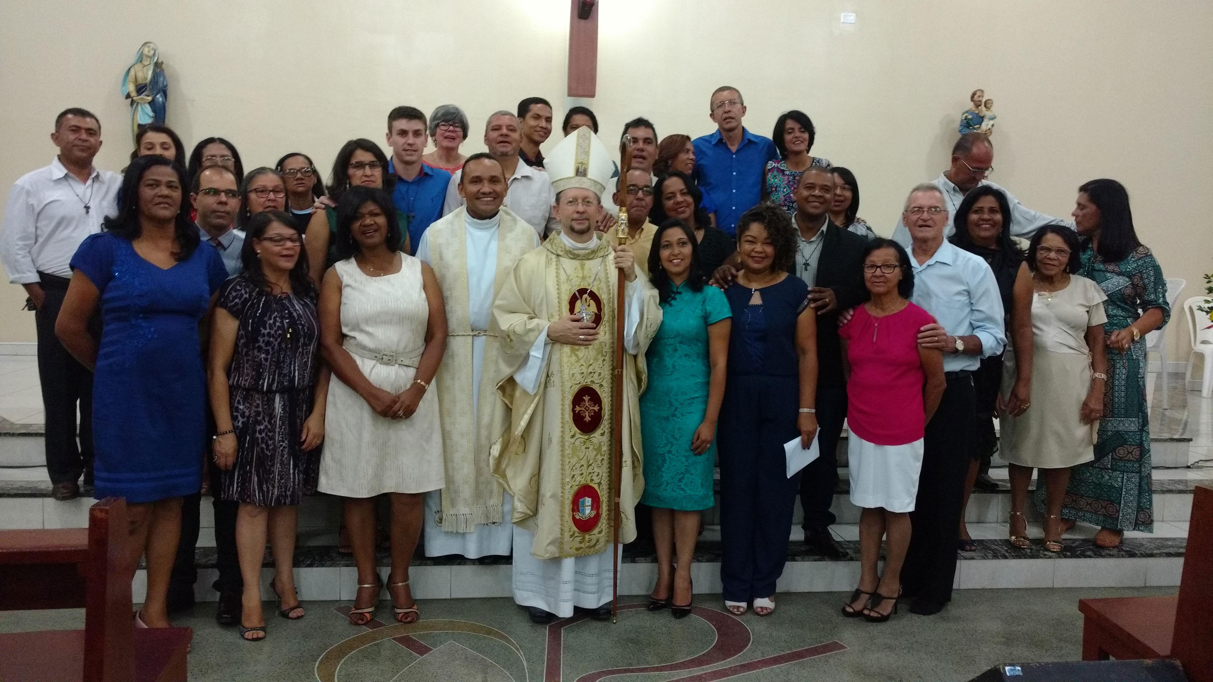 foto com o bispo - compromisso 2017
