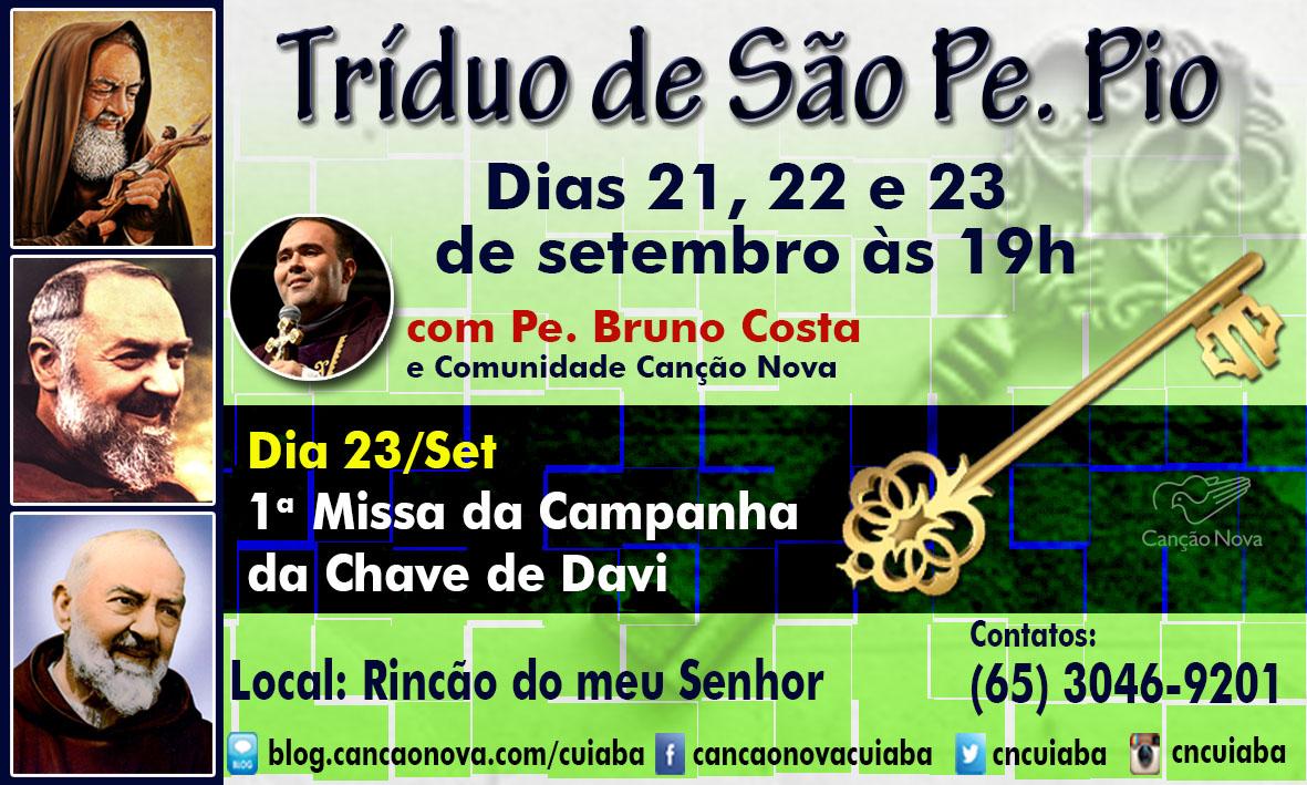 Cartaz Tríduo São Pe Pio