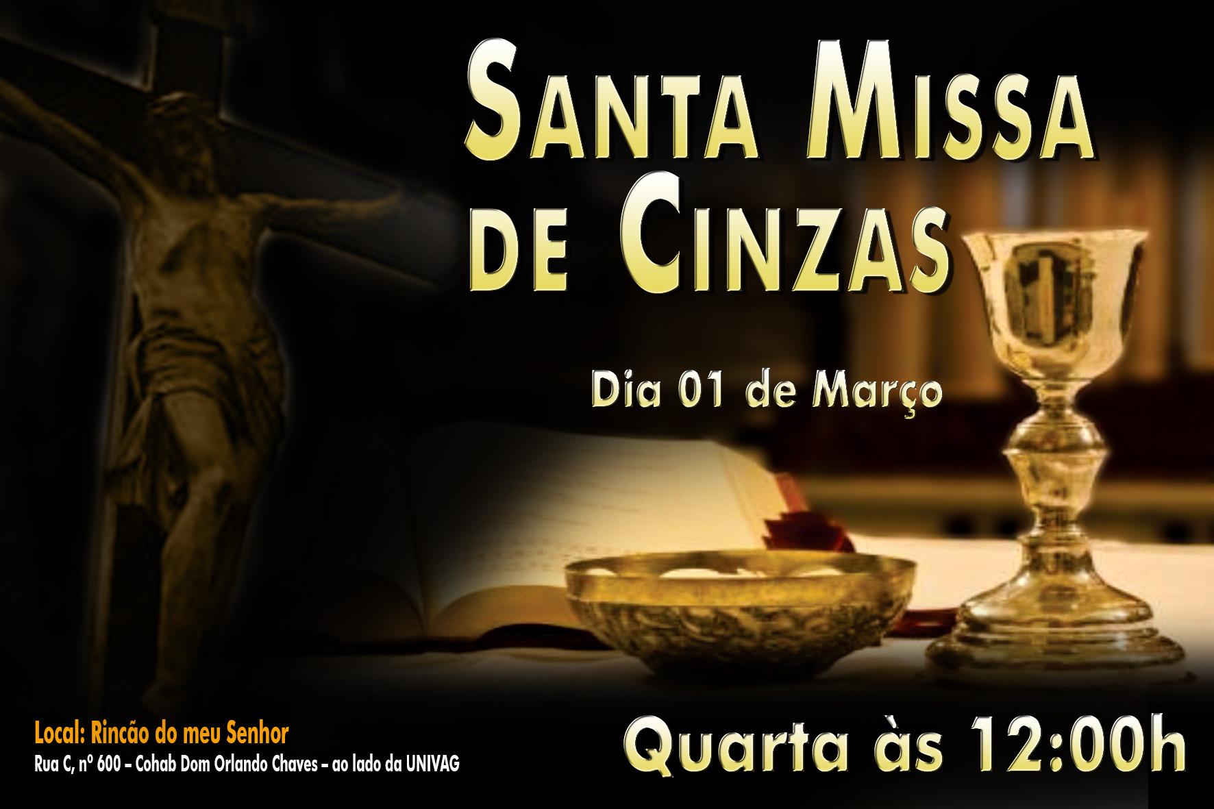 Santa Missa Quarta - Feira de Cinzas