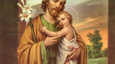 São José, homem obediente à voz de Deus.