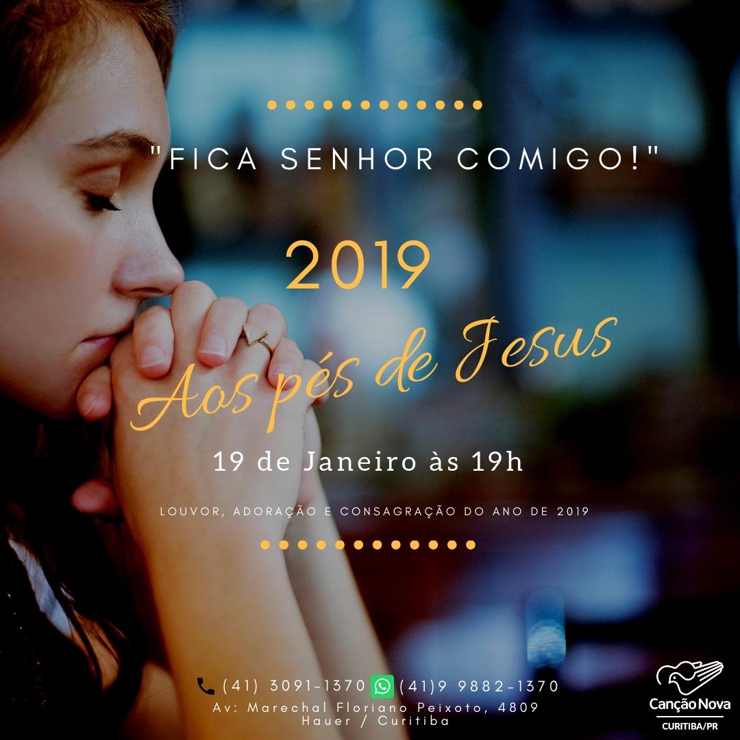 2019 aos pés de Jesus