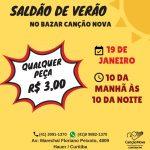 Saldão de Verão no Bazar Canção Nova Curitiba