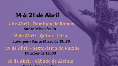 Semana Santa é na Canção Nova de Curitiba