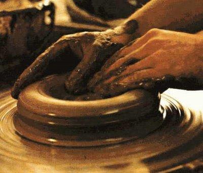 formação: moldado pelas mãos