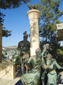 Esta estátua expressa a negação de Pedro