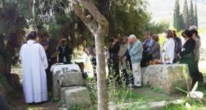 Grupo de peregrinos em Corinto - Grécia