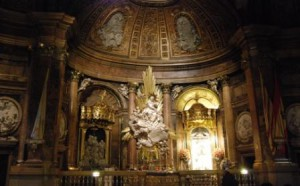 Catedral de Nossa Senhora del Pilar - Imagem da aparição de Nossa Senhora ao apóstolo São Tiago