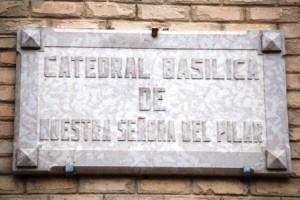Placa da Catedral de Nossa Senhora del Pilar