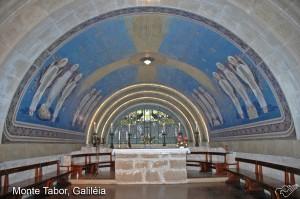 Foto do altar da Basílica do Monte Tabor