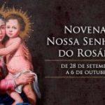 Hoje começa a novena a Nossa Senhora do Rosário
