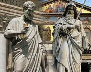 As duas Colunas da Igreja