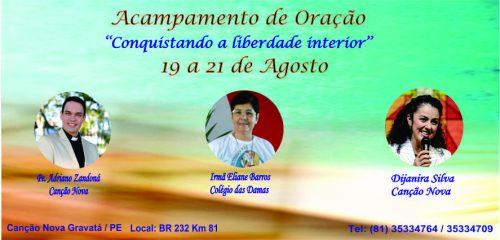 CONQUISTANDO LIBERDADE INTERIOR - CAPA DO BLOG CANÇÃO NOVA