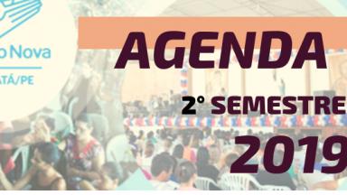 Agenda da Canção Nova Gravatá - Segundo Semestre de 2019
