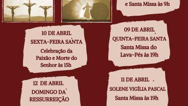 Horários das celebrações da Semana Santa na Canção Nova Gravatá