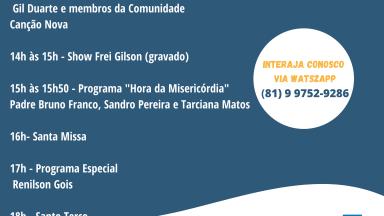 Programação especial - 25 ANOS da Missão e da Rádio Canção Nova em Gravatá