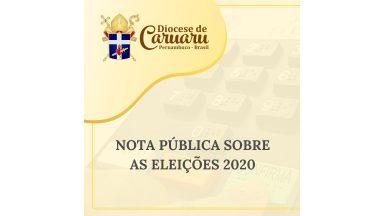 Diocese de Caruaru divulga nota pública sobre eleições 2020