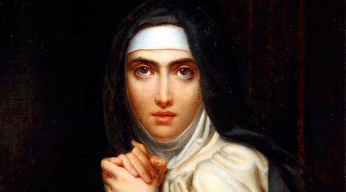 Santa Teresa vence o Demônio pela força da Água Benta