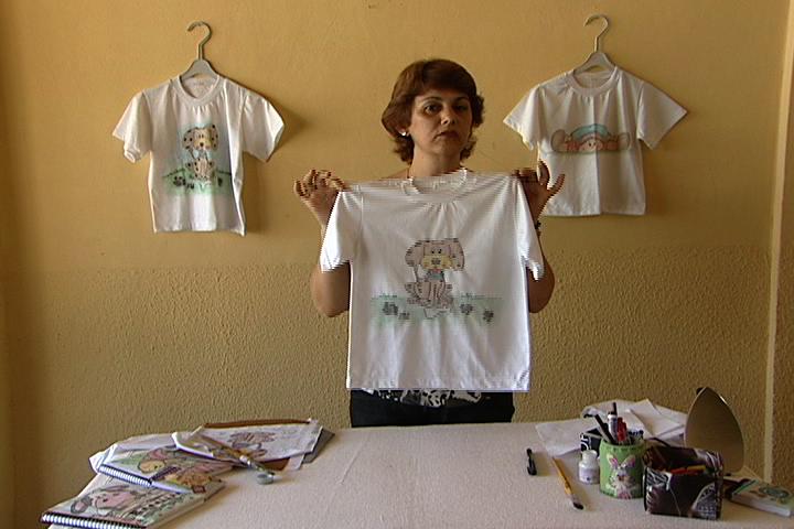 Extremamente Pintura camiseta em giz de cera   Manhã Viva AB44