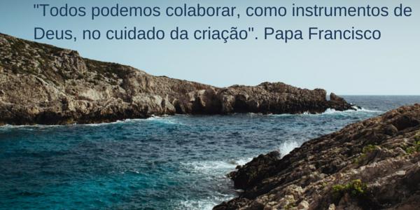 Todos podemos colaborar, como instrumentos de Deus, no cuidado da criação-. Papa Francisco