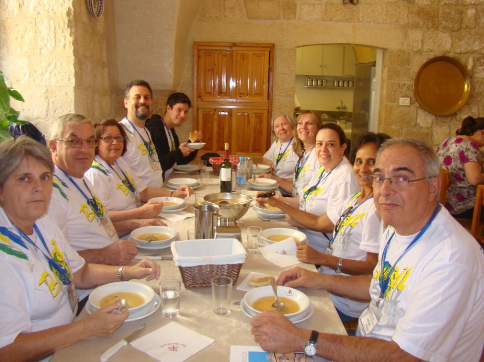 Almoço em Jerusálem...Só faltou vc!