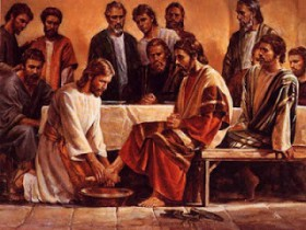 JESUS LAVA OS PÉS