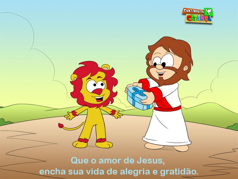 3- QUE O AMOR DE JESUS ENCHA SUA VIDA DE ALEGRIA E GRATIDÃO