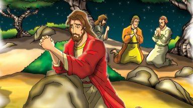 Jesus subiu ao monte com os amigos para rezar