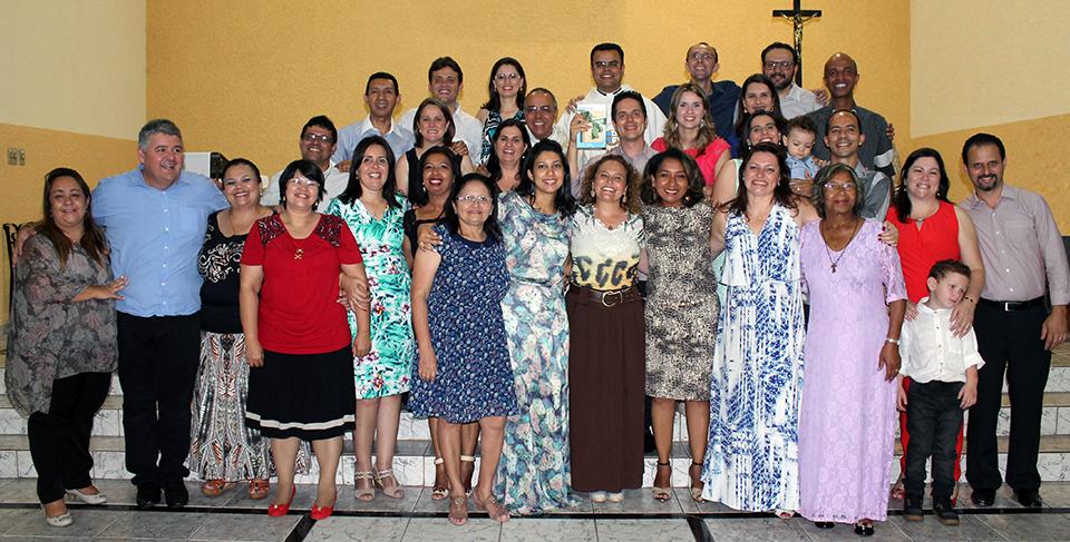 Foto dos missionários da Canção Nova em Paulínia ano de 2016