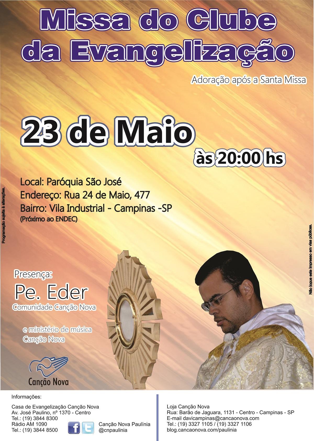 Cartaz Missa do Clube_Maio