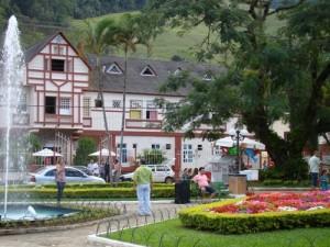 Praça central da cidade de Domingos Martins-ES