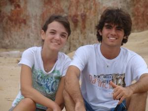 Elisa ( amiga da fam�lia) e Samuel ( filho mais velho)