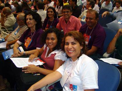 Gerson Abarca com os Psicólogos do CFP na CONFECOM em Bras�lia