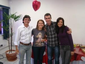 No camarim, Gerson, Eliana Sá e noivos missionários da CN