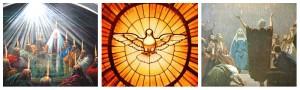 maria e os apostolos reunidos no cenáculo esperando o espirito santo