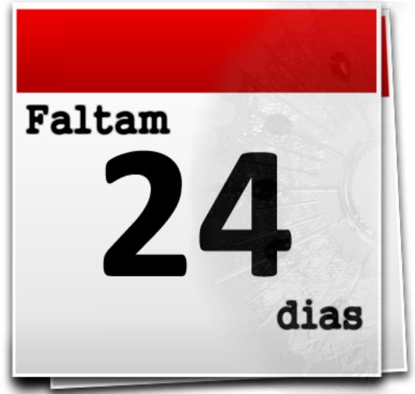 Calendário de contagem regressiva para o tempo de adoração ao Eterno Aleluia