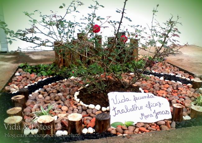 Pequeno novo jardim na Casa de Maria