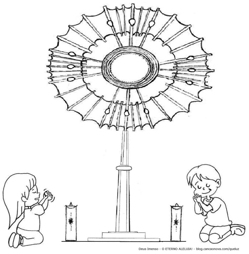PARA COLORIR Deus Imenso - Casa de Maria - Queluz